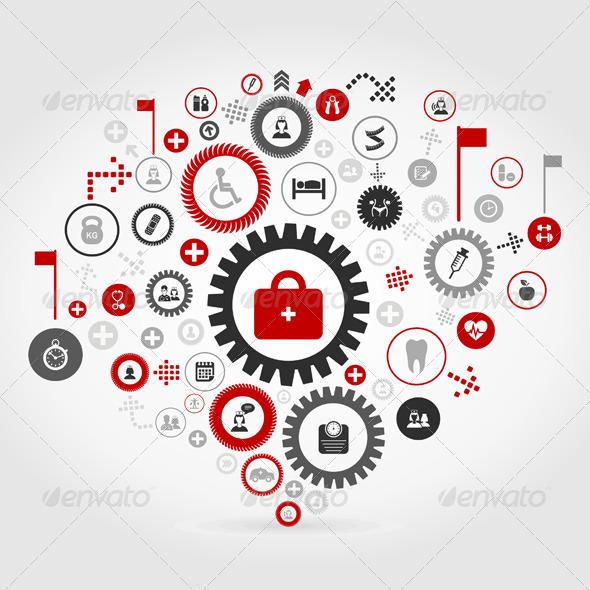 GraphicRiver Medicine Gear Wheel 6888288