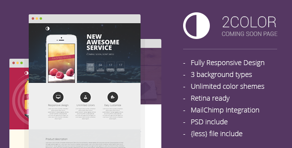 ThemeForest 2Color Coming Soon Page 6888596