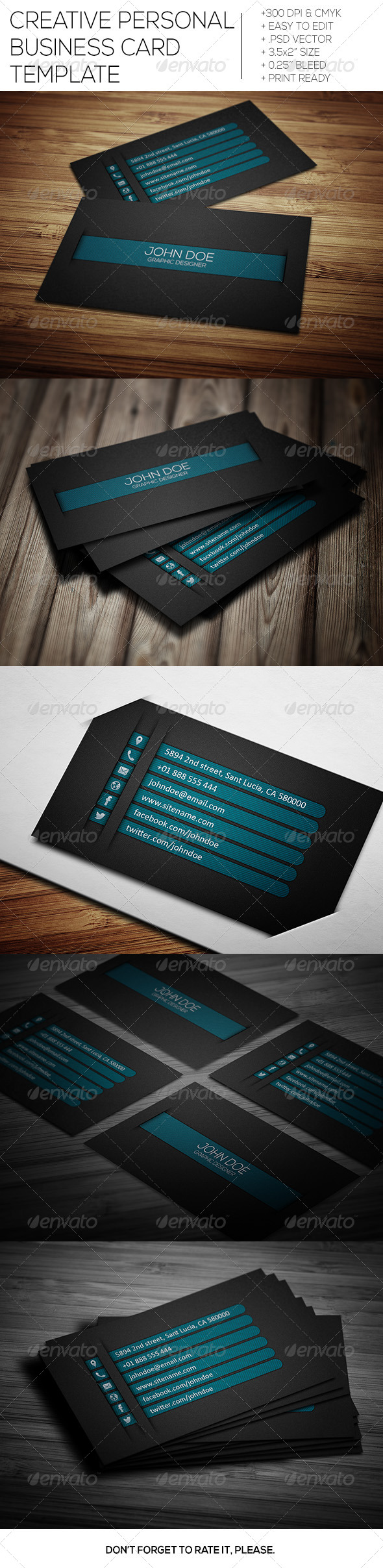 GraphicRiver Creative Personal Business Card V-2 6888628