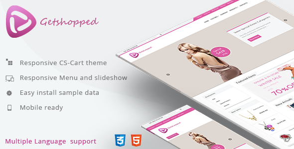 Getshopped – Multipurpose Responsive CS-Cart Theme