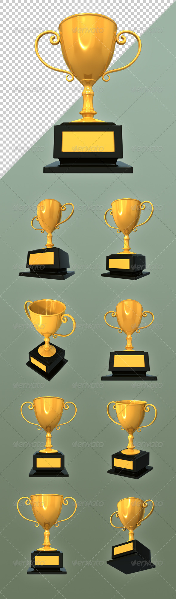 GraphicRiver Golden Trophy 6888688