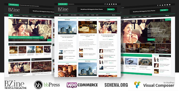 ThemeForest Bzine Wordpress Premium HD Magazine 6858477
