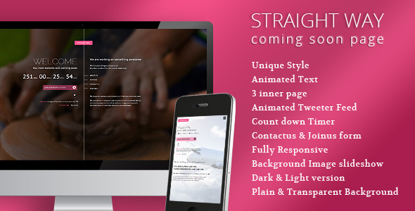 ThemeForest Straightway Coming soon unique creative Page 6778665