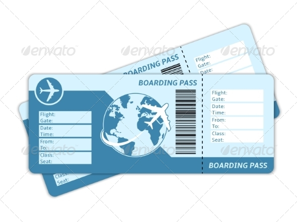GraphicRiver Blank Plane Tickets 6889351
