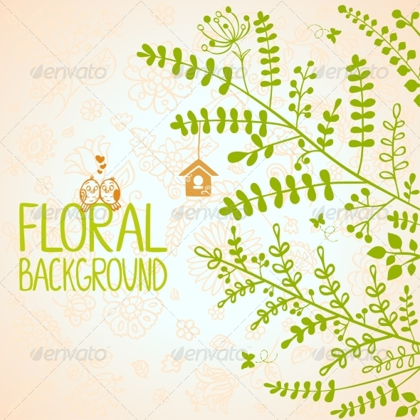 GraphicRiver Branches Background 6889548