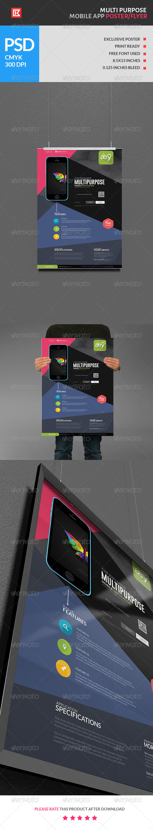 Multipurpose Mobile App Poster Flyer