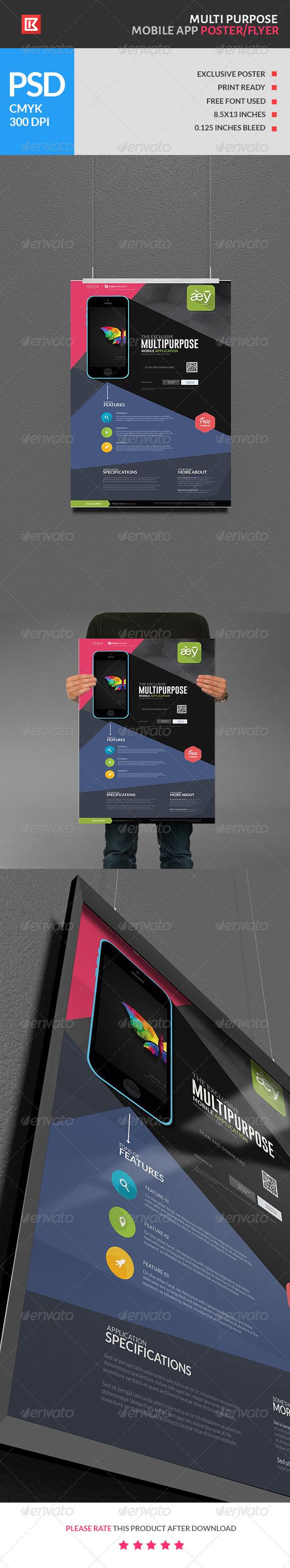 GraphicRiver Multipurpose Mobile App Poster Flyer 6848316