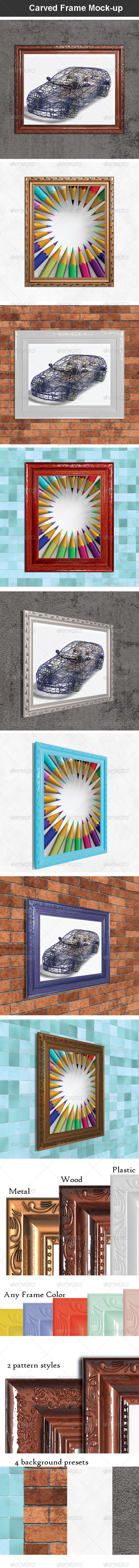 GraphicRiver Carved Frame Mock-up 6889648