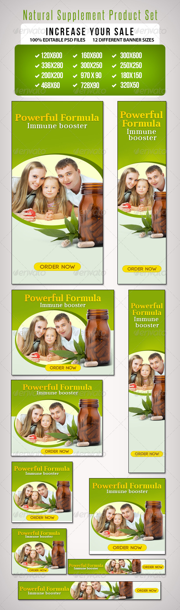 GraphicRiver Natural Supplement Product Set II 6889686