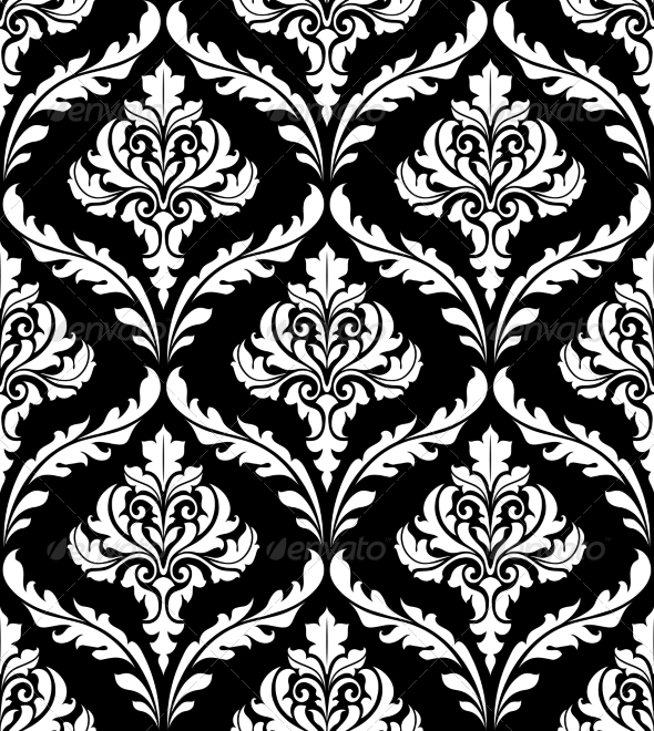 GraphicRiver Seamless Arabesque Design in Black and White 6889688