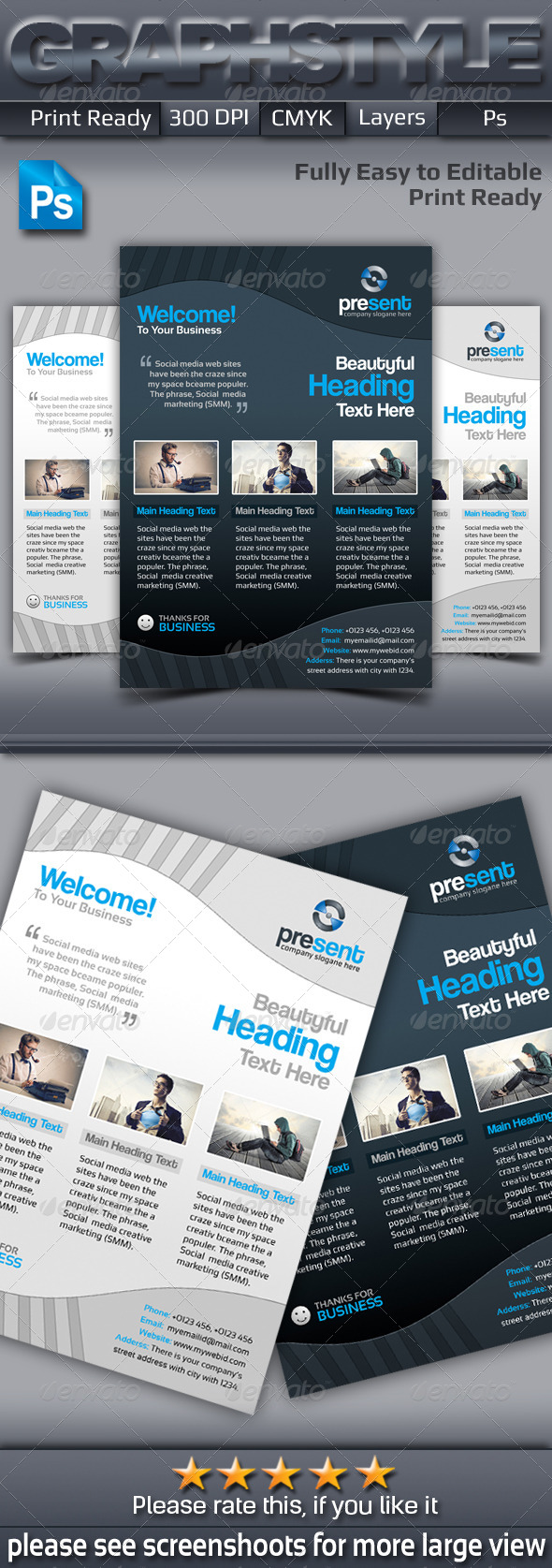 GraphicRiver Present Corporate Business Flyer Adds 6889737