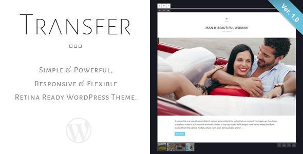 ThemeForest Transfer Retina Responsive WordPress Blog Theme 6887433