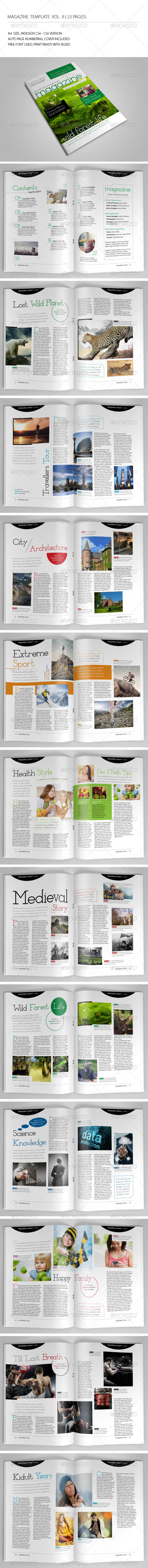 25 Pages Template Magazine Vol9