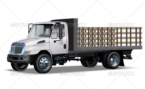 GraphicRiver Truck Flatbed 6890121