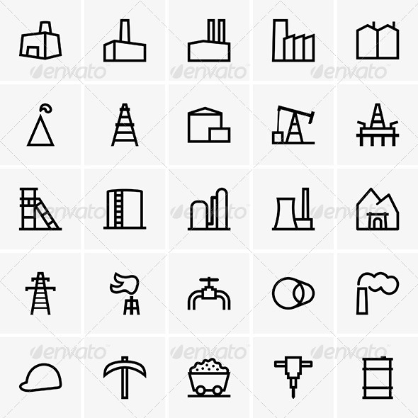 GraphicRiver Industrial Icons 6890170