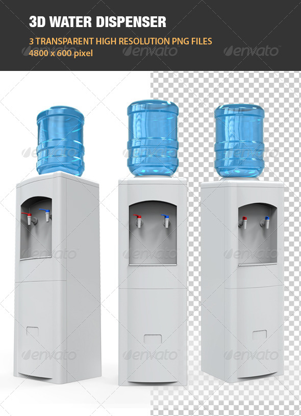 GraphicRiver 3D Water Dispenser 6890249