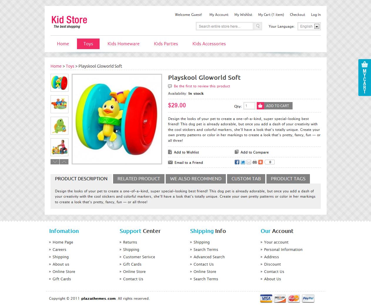 Kid Store Magento Theme