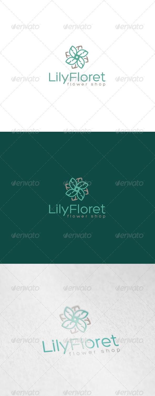 GraphicRiver Lily Floret Logo 6890285