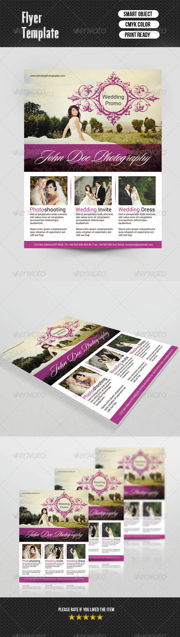 GraphicRiver Wedding Photography Flyer 6891487