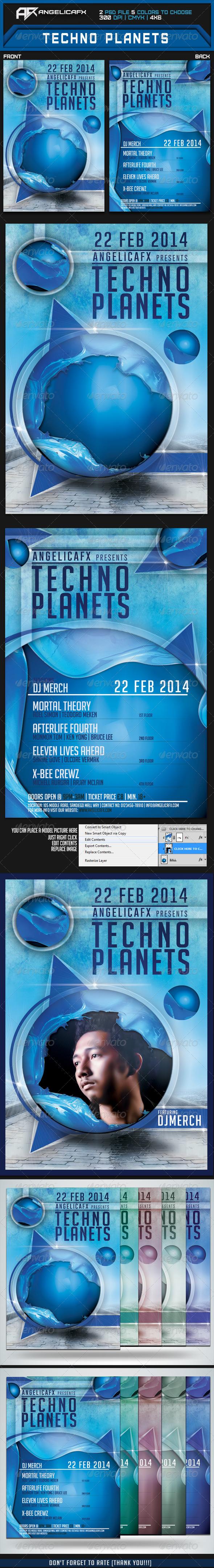 GraphicRiver Techno Planet Flyer Template 6826599