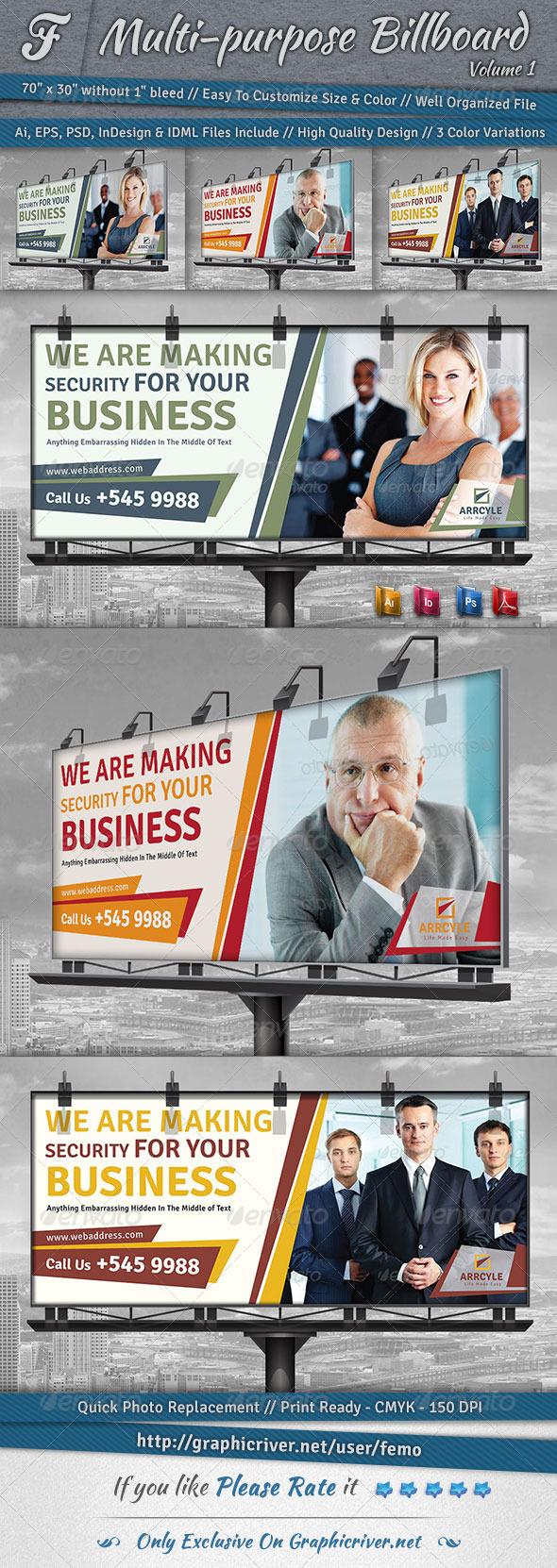 GraphicRiver Multi-Purpose Billboard Volume 1 6891876