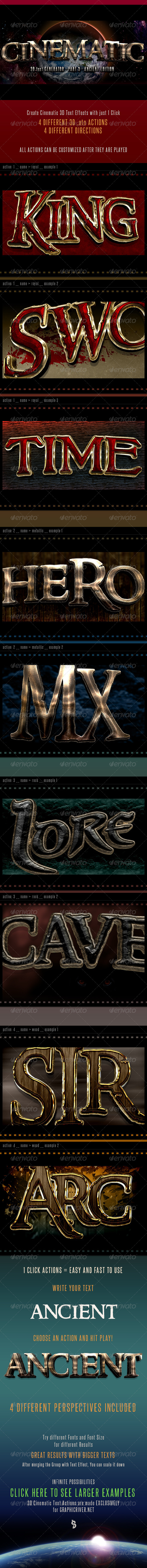 GraphicRiver 3D Cinematic Text Generator 3 Actions 6892156