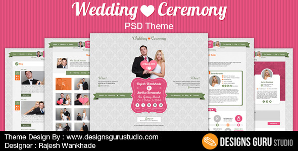Wedding Ceremony - Personal PSD Templates