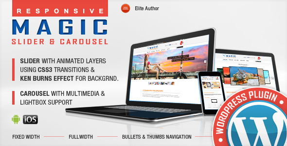 CodeCanyon Magic Responsive Slider &Carousel WordPress Plugin 6892273