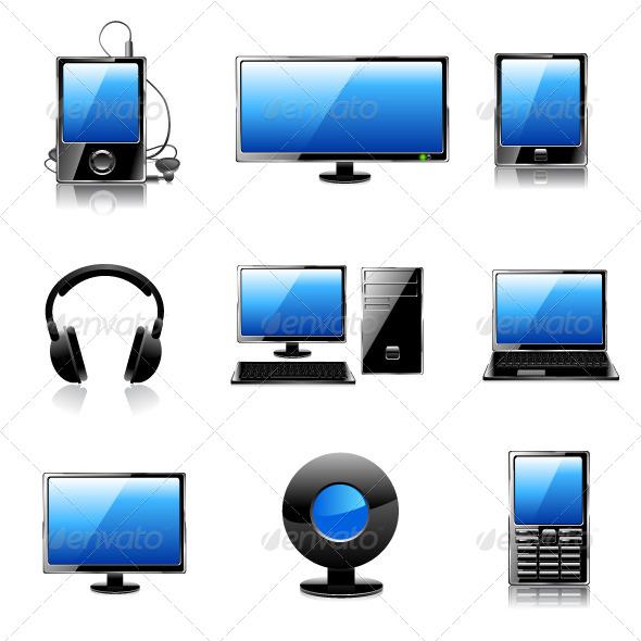 GraphicRiver Media Icon Set 6892500