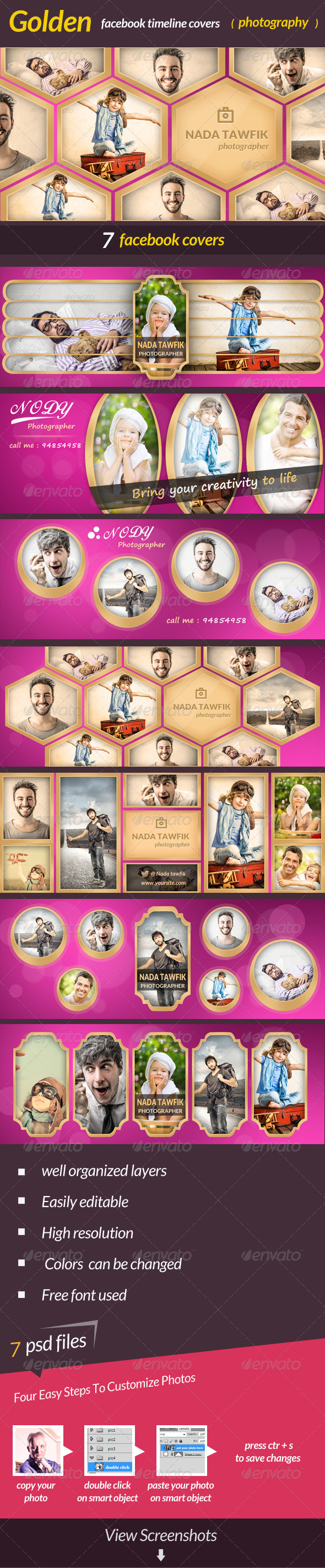 GraphicRiver Golden Facebook Covers 6892557
