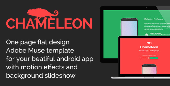 ThemeForest Chameleon Android App Promo Site Muse Template 6892619