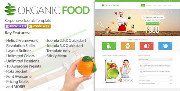 Organic Food - Responsive Joomla Template - Food Retail