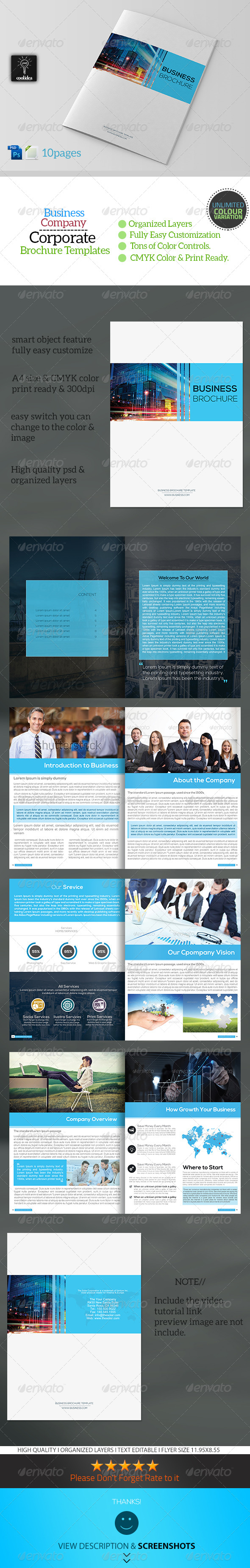 GraphicRiver Corporate Business Brochure 10 Pages 6893336