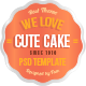 Cute Cake - One Page PSD Template - ThemeForest Item for Sale