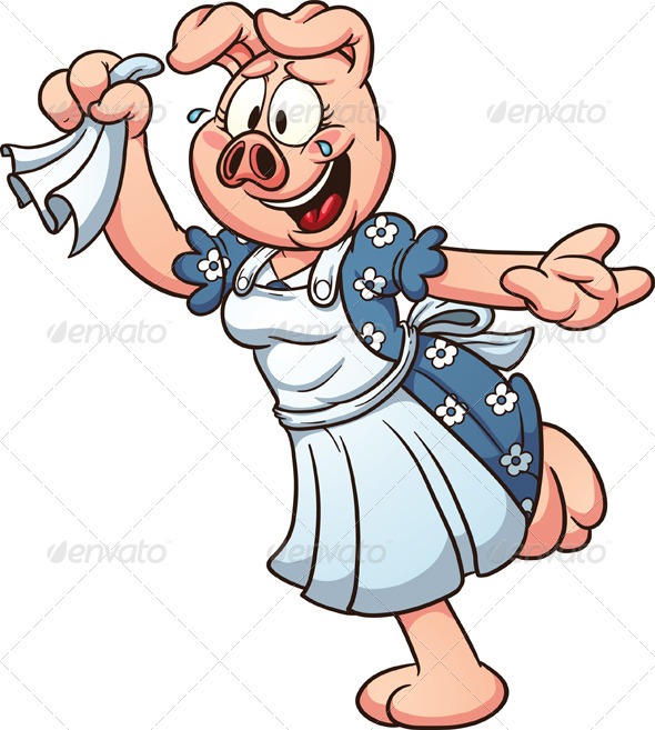 GraphicRiver Cartoon Pig 6893406
