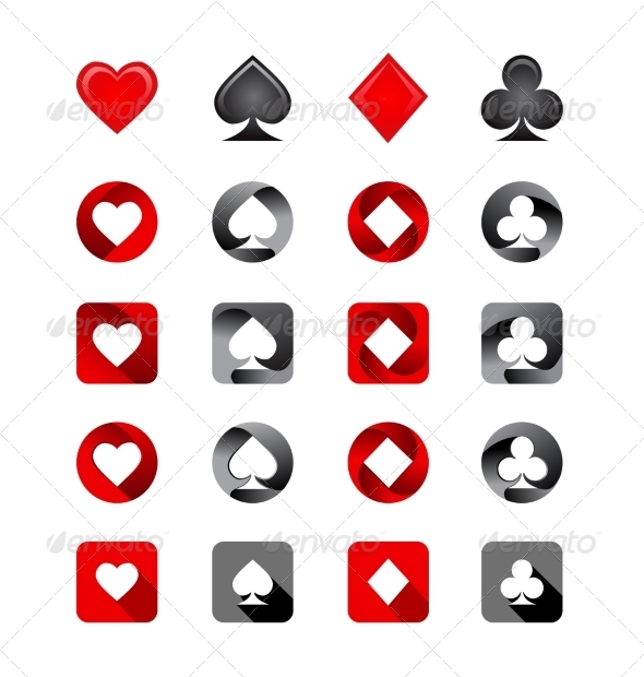 GraphicRiver Vector Illustration of Playing Card Suits 6893408