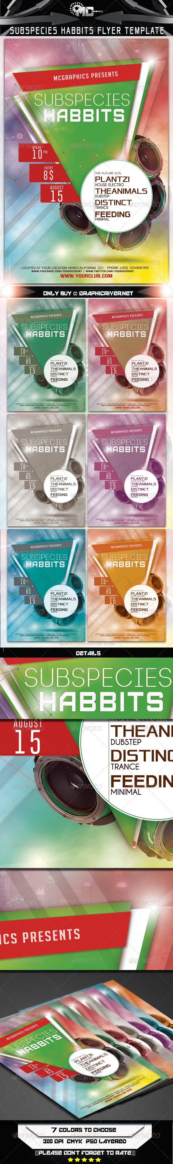 GraphicRiver Subspecies Habbits Flyer Template 6893473