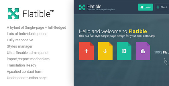 Flatible - Single Page WordPress Theme - Portfolio Creative
