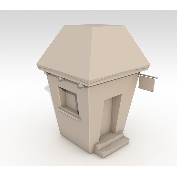 Little Low Poly House  - 3DOcean Item for Sale