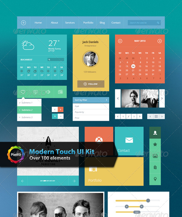GraphicRiver Modern Touch UI Kit 6894110