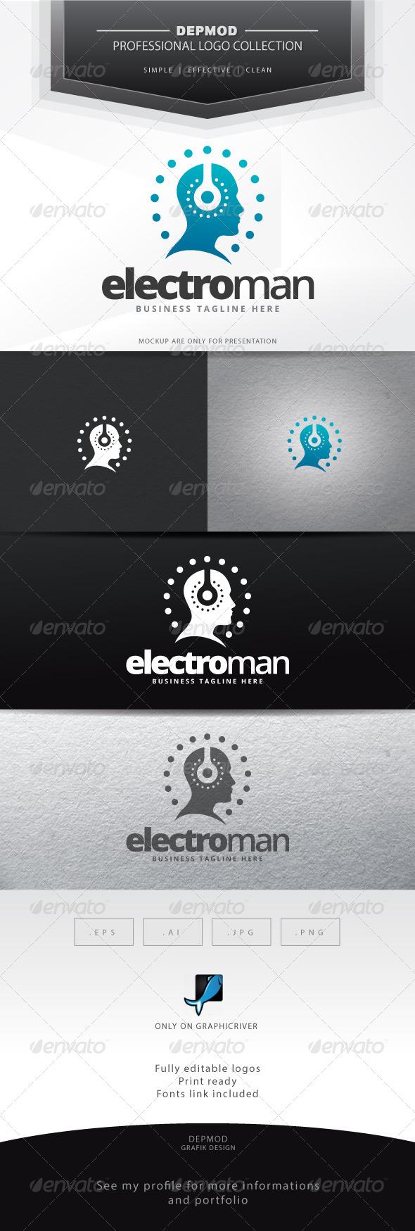 GraphicRiver Electro Man Logo 6894126