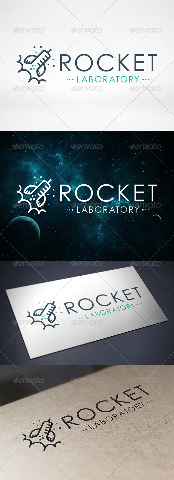 GraphicRiver Rocket Lab Logo Template 6894128