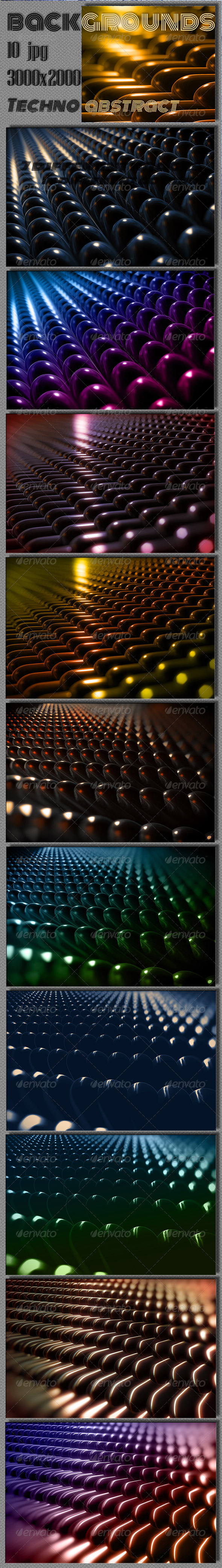 GraphicRiver Techno 3D Capsule Backgrounds 6894159