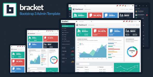 ThemeForest Bracket Responsive Bootstrap 3 Admin Template 6894362