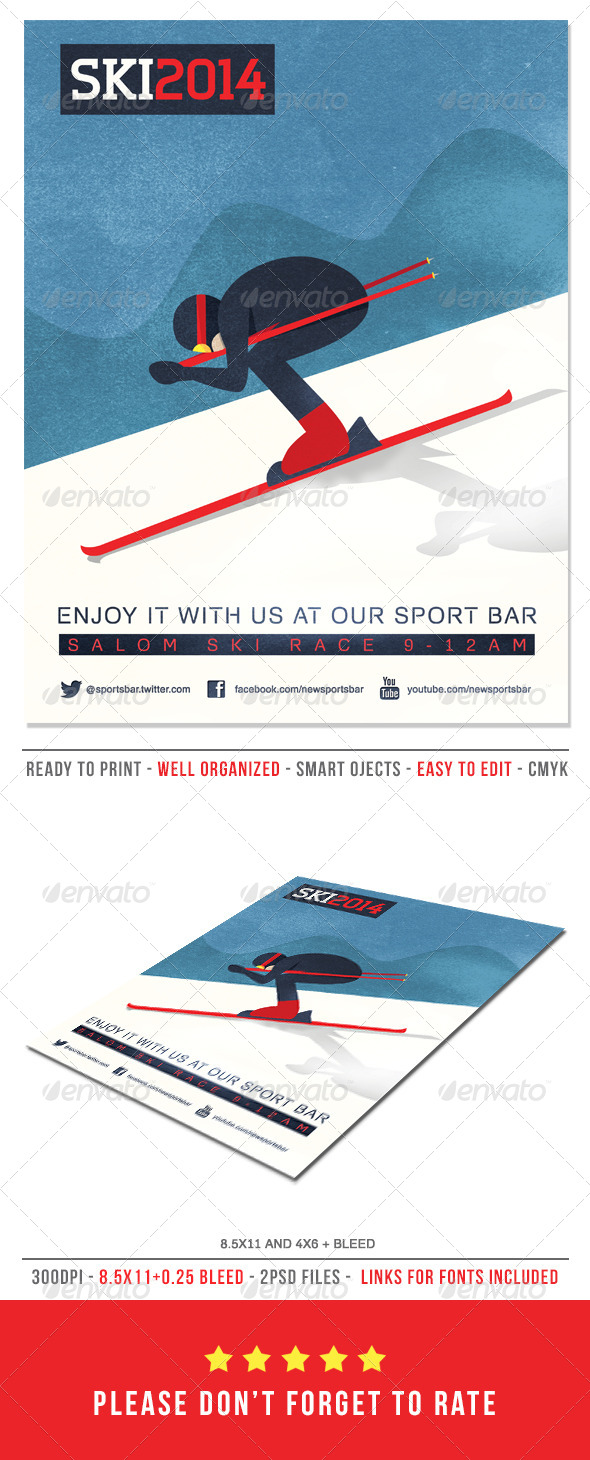 Ski Poster Flyer