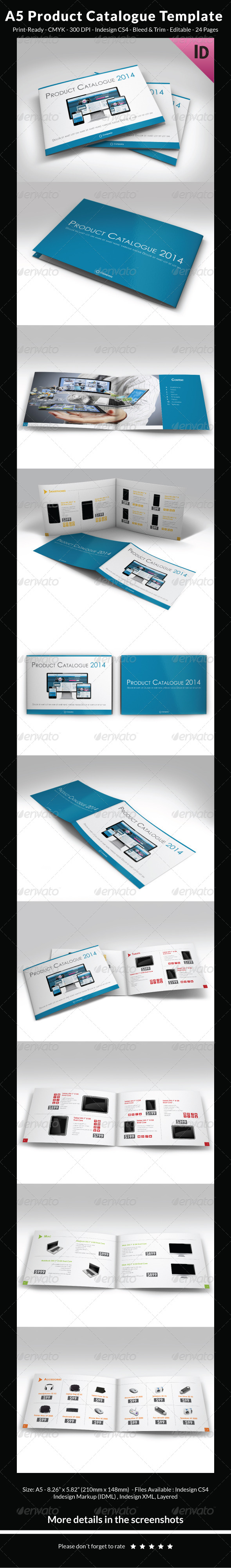 GraphicRiver A5 Product Catalogue Template 6854597