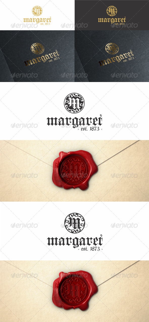 GraphicRiver M Vintage Monogram Fashion Logo 6895163