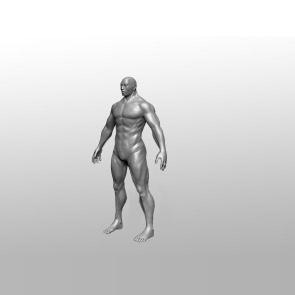 3DOcean Man Zbrush Sculpt 6895177