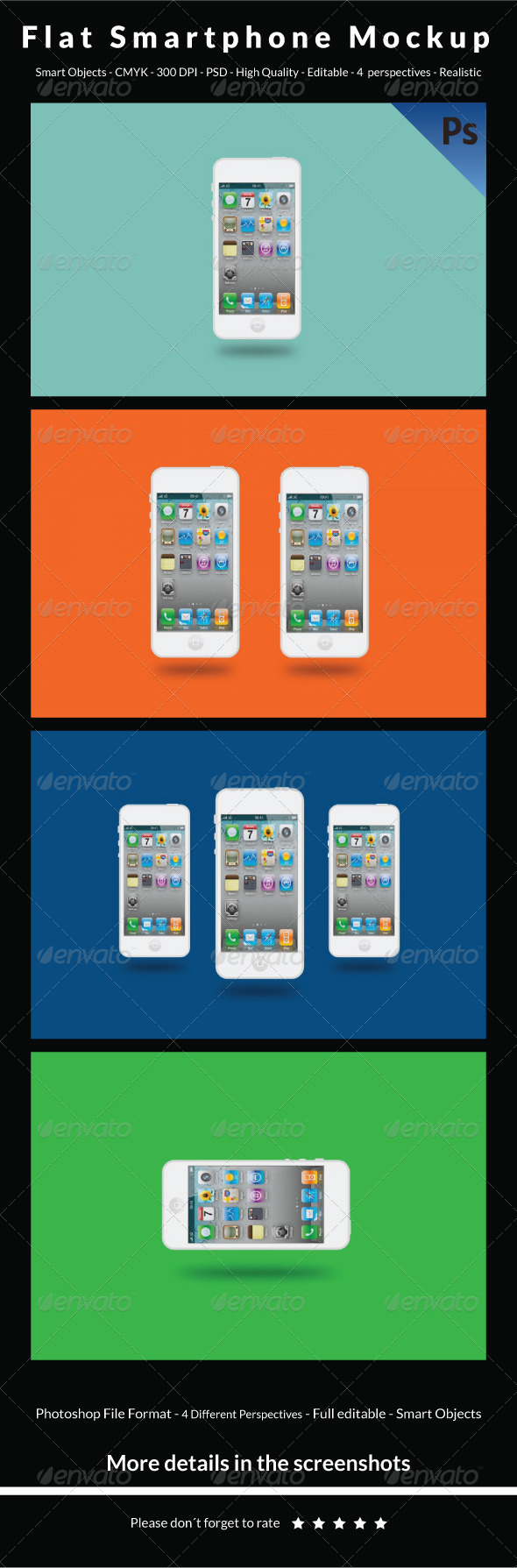 Flat Smartphone Mockup