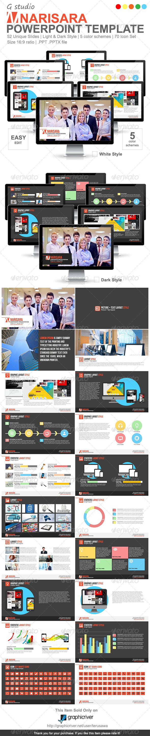 Gstudio Narisara Powerpoint Template - Business Powerpoint Templates
